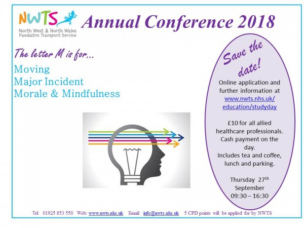Annual conference 2018 - save the date flyer
